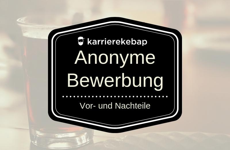 Anonyme Bewerbung